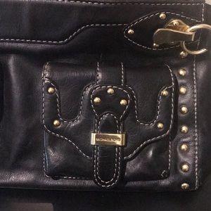 Michael Kors Bags - Michael Kors black leather handbag w/gold hardware
